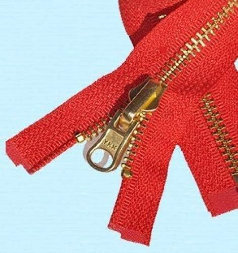 "30/"" #5  Antique Brass Zipper~Separating~White~YKK 50"