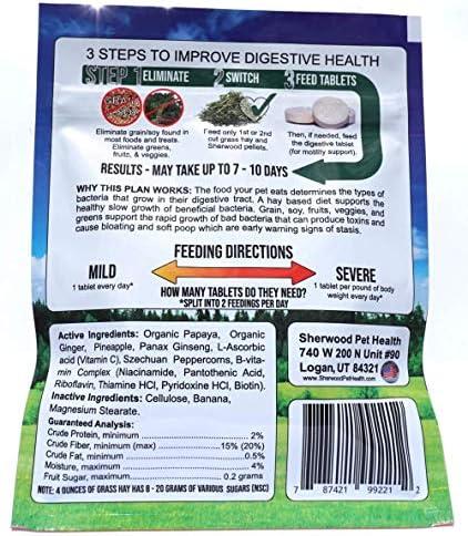 Sherwood Pet Health Aparato digestivo Soporte con Papaya 100 tabletas - 60 Gramos