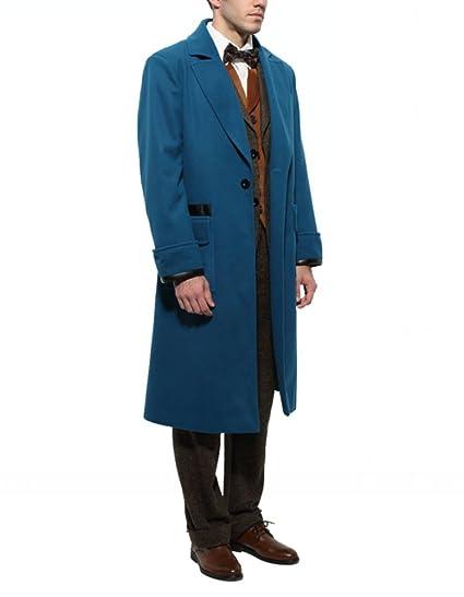 Amazoncom Men Blue Overcoat Trench Coat Costume Set Clothing