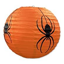 Beistle 3-Pack Spider Paper Lanterns, 9-1/2-Inch