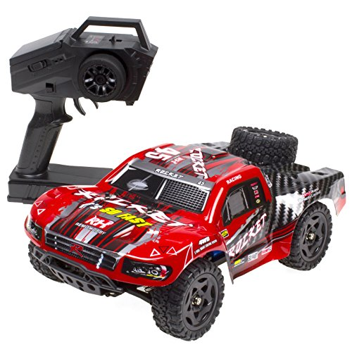 Red Rocket Hobbies - Cheerwing REMO Rocket RC Truck 1:16 2.4Ghz 4WD Remote Control Car High Speed Off-road Short Course Truck Red