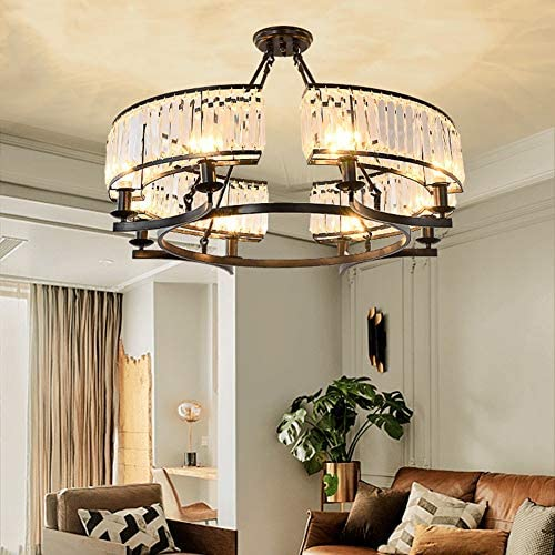 6 Lights Modern K9 Crystal Chandelier