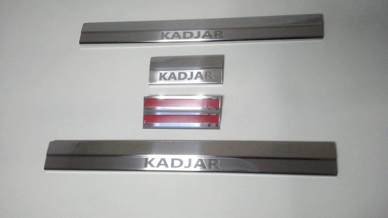 Chrome Door Sills covering Protector 4 Door stainless steel RENAULT KADJAR 2015