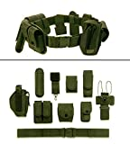 ultimate arms gear belt - Ultimate Arms Gear OD Olive Drab Green 10pc Police-Law Enforcement-Security Gear Modular Nylon Duty Belt With Pistol/Gun Holster Fits Glock Handgun