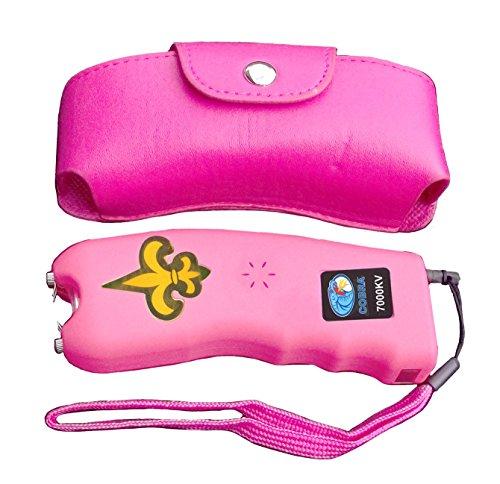 Cobra 7 Million Volt Stun Gun CSP-007 - Rechargeable with Flashlight & Best Self Defense Features (Pink)