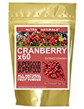 Nutra Naturals (TM) Pure Cranberry Powder Concentrated 60x Kidney Bladder UTI Support People Pets 16oz All Natural 16,000 mg. per Serving