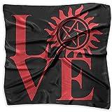 Love Supernatural Unisex Silky Scarf Handkerchief Bandana Wrap Scarf
