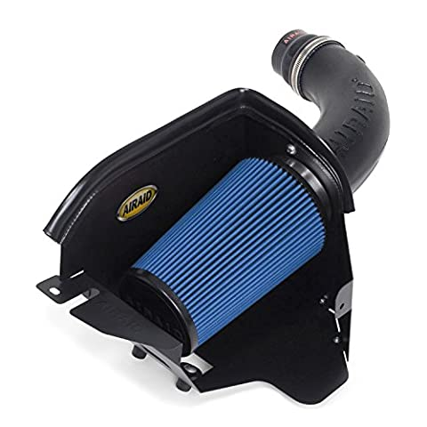 Airaid 313-208 Cold Air Dam Intake System with Blue SynthaMax Dry Filter for Jeep Wrangler JK 3.8L V6 2007 - (Airaid Cold Air Intake Cleaner)