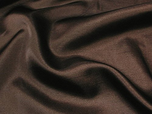 Shantung Satin Faux Silk Dupioni 60' Wide Fabric (Dark Brown STS-14)