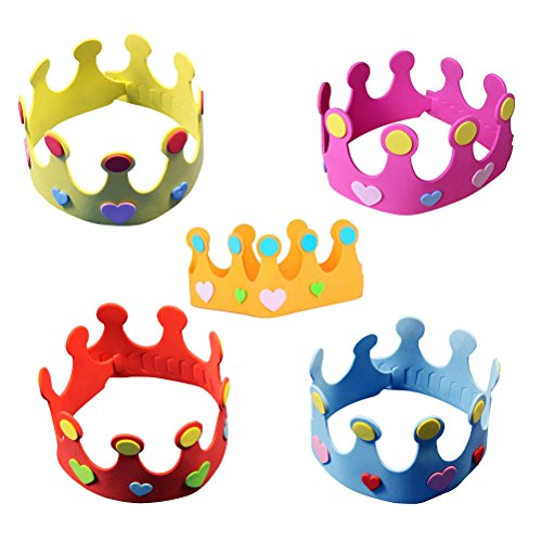 NUOLUX Party Hats Birthday Hats DIY Crown Hat for Kids Pack of 12 (Random Color) by NUOLUX