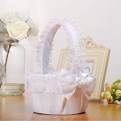 BESTOYARD la boda la la la nupcial la Bowknot de ceremonia flor cesta de para Cesta la de de cesta de novia la la de del de decoración fiesta Hq8YaHOrxw