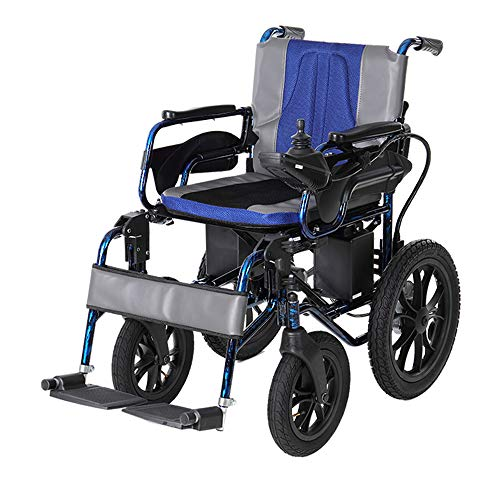 - T.kerry Electric Wheelchair, Lightweight Folding Elderly Scooter, Off-Road Wheelchair