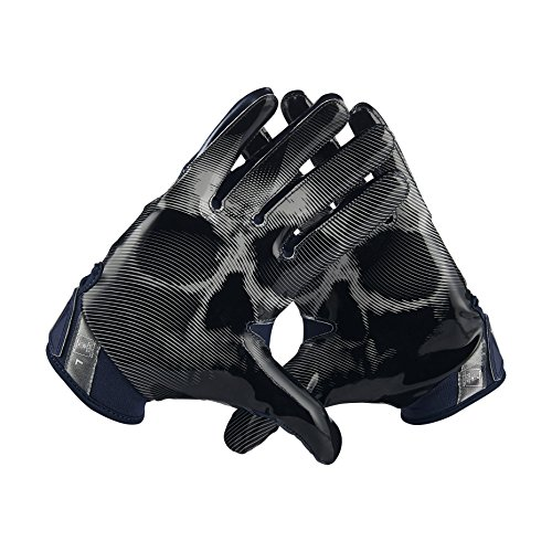 Nike Men's Vapor Jet 4.0 Football Receiver Gloves College Navy/Wolf Grey/Black (XL) (Nike College Football compare prices)