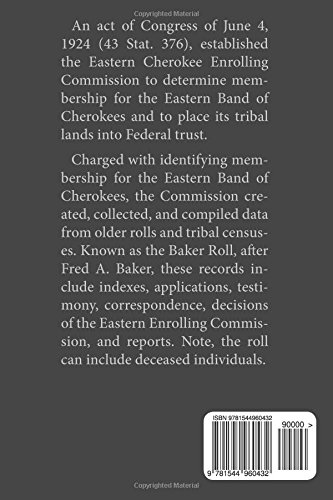 The 1928 Baker Roll: Records of the Eastern Cherokee