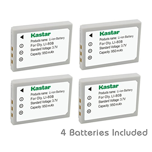 Kastar Battery (4-Pack) for Olympus Li-80B and Konica Min...