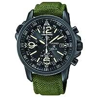 Seiko SSC295P1 Prospex Men's Solar Military Alarm Chronograph 100m Water Resistant,SSC295