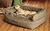 Orvis Comfortfill Couch Dog Bed/Medium Dogs Up to 40-60 Lbs, Brown Tweed