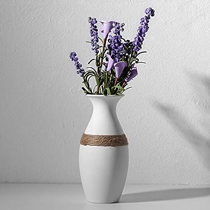 Amazon European White Ceramic Tall Flower Vase Kissh Hydroponic