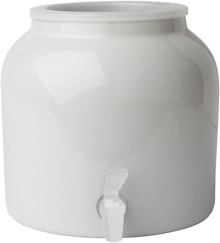 New Wave Enviro Products Porcelain Water Dispenser, White