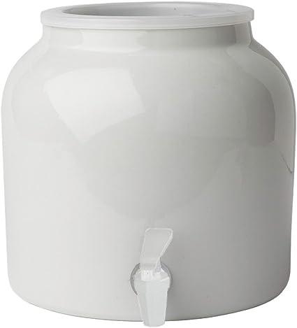Black Wood Counter Stand For Ceramic Porcelain Water Dispenser Crock Vase Pot