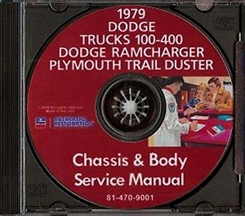 - STEP-BY-STEP 1979 DODGE TRUCK PICKUP REPAIR SHOP & SERVICE MANUAL & BODY SHOP CD INCLUDES: Power Wagon, Li'l Red Express, Warlock II, Sport Utility, 100-400 Series Conventional, Ramcharger, Trail Duster, Crew & Club Cab