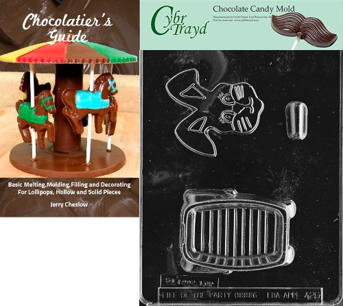 """Cybrtrayd """"3D Bunny Pour Box"""" Easter Chocolate Candy Mold wi"""