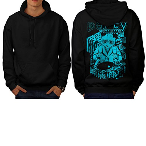 Party Starter Panda DJ Night Club Men NEW M Hoodie Back | Wellcoda