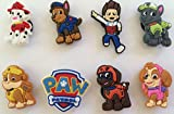 Paw Patrol Shoe Charms Set of 8, Shoes, Crafts, Cake Toppers * 112 *