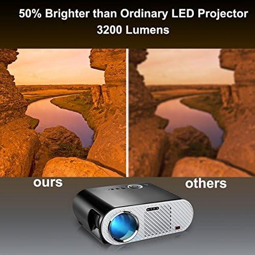 GP90 proyector de vídeo, MTFY 3200 lúmenes LED proyector de Cine ...