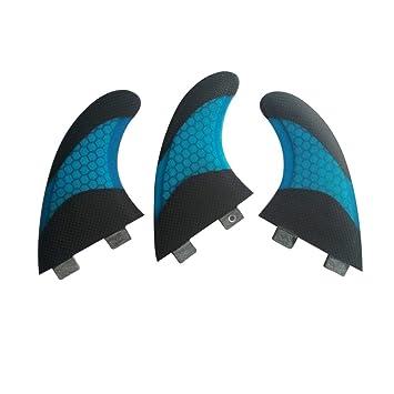 UPSURF Tabla de Surf FCS Base Aletas Fibra de Vidrio Para Surfear Tablero Aletas Thruster Set