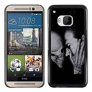 Paccase / SLIM PC / Aliminium Casa Carcasa Funda Case Cover - Death Scream Halloween Deep Metal - HTC One M9