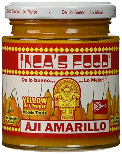 (Inca's Food Aji Amarillo Paste - Hot Yellow Peruvian Pepper Paste 7.5 oz (3 PACK) )