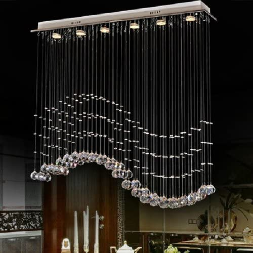 LightInTheBox 3W GU10 Led Wave-Shaped K9 Crystal Lamps Romantic Crystal Chandelier Bedroom Lamp Lights Hanging Wire Lights Fixture Light Source Warm White