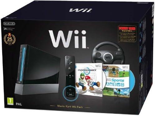 Nintendo Wii Mario Cart pack - juegos de PC (512 MB, SD, 802.11b, 802.11g) Negro: Amazon.es: Videojuegos
