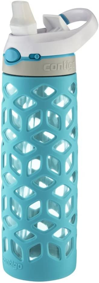 Contigo AUTOSPOUT Straw Ashland Glass Water Bottle, 20 oz., Scuba