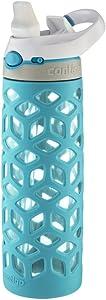 Contigo Autospout Straw Ashland Glass Water Bottle, 20 oz., Scuba