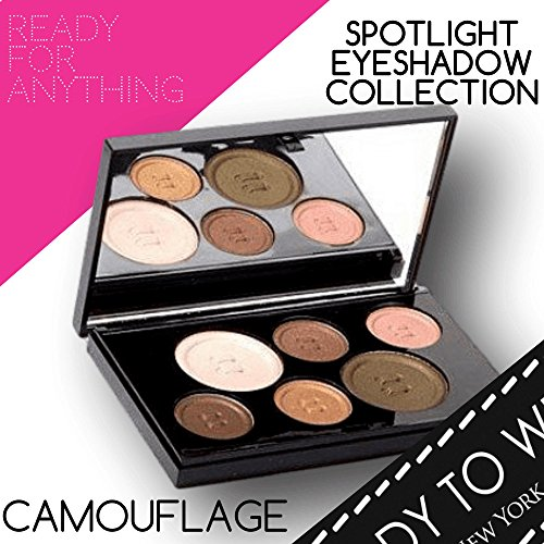 Camo Off Makeup Remover - Ready To Wear Long Lasting SPOTLIGHT EYESHADOW COLLECTION Rich Colors Silky Smooth EyeShadow Palette Compact Makeup Mirror Makeup Compact Made In Italy (CAMOUFLAGE)