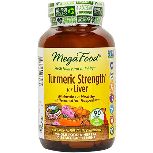MegaFood - Turmeric Strength for Liver, Supports Healthy Function of the Liver, 90 Tablets (FFP)