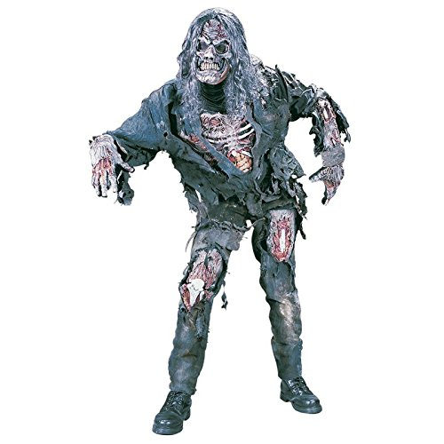 Fun World - Men's Zombie Costume - One Size Fits (Dead Person Halloween Costume)