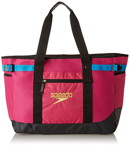 Speedo Ventilator Tote Bag, Fuchsia Purple/Hawaiian Ocean, 40-Liter