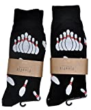 Fine Fit Mens Novelty Print Trouser Socks 2 Pair Set Bowling 10-13