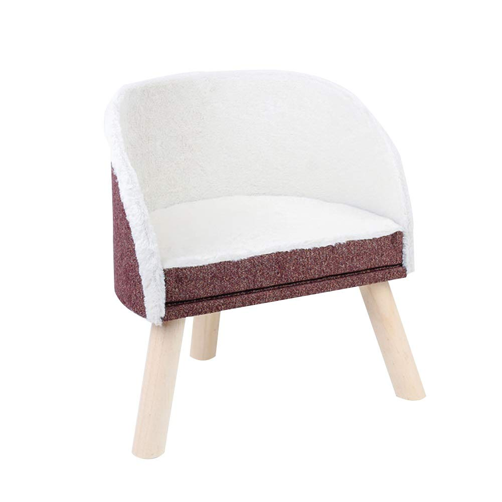 Brown 46.5x31x50.5cm Brown 46.5x31x50.5cm LXHONG-Cat tree Climbing Frame Square Shape Chair Structure Solid Wood Leg Stool Moisture Proof Nest, 2 Sizes, 2 colors (color   Brown, Size   46.5x31x50.5cm)