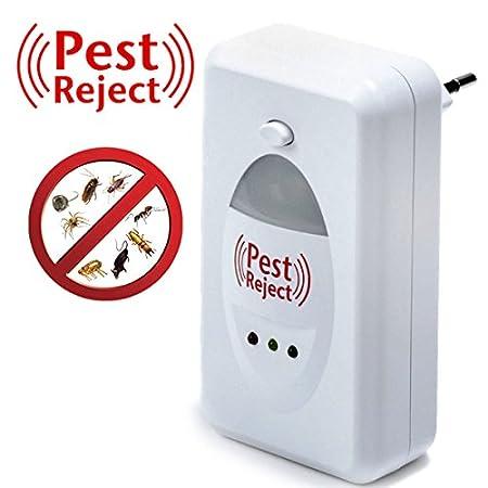 El original Pest Reject: el único con la doble tecnología electromagnética y ultrasonidos. Repelente para todo tipo de insectos y roedores.