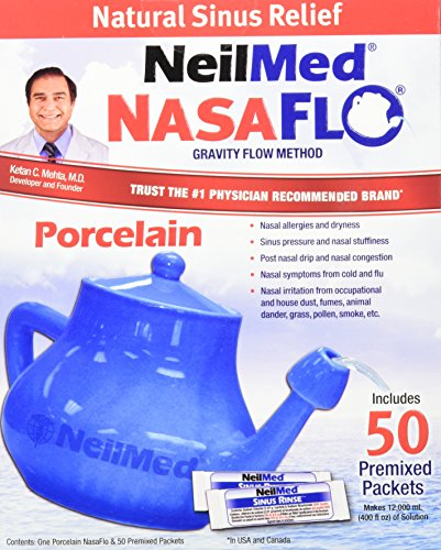 Educational Pot (NeilMed Nasaflo Porcelain Neti Pot, 50 Count)