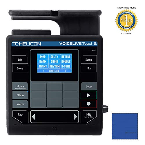 TC-Helicon VoiceLive Touch 2 with Microfiber and 1 Year Everything Music Extended Warranty ()
