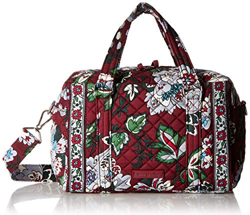 Vera Bradley Iconic 100 Handbag, Signature Cotton, Bordeaux Blooms