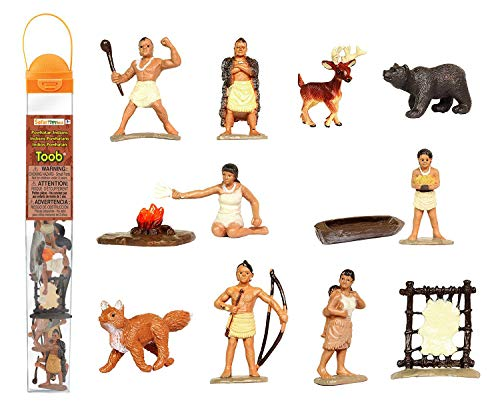 - Safari Ltd Powhatan Indians TOOB With 12 Historical Figurine Toys, Including a Camp Fire, Powhatan Woman Cooking, a Fox, Stretched Deer Hide, Bear,