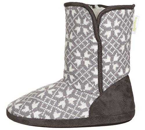 Grey Multi New Combo Ladies Medium York Snowflake Capelli Knit Boot t0wHZ