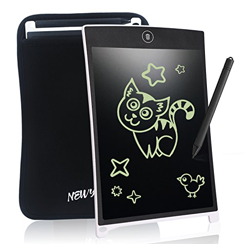 8.5 Inch LCD Writing Tablet NEWYES NYWT850 Digital Portable touch Pad Rugged drawing Tablet Fridge Planner Office Memo Boards for kids (white+case)