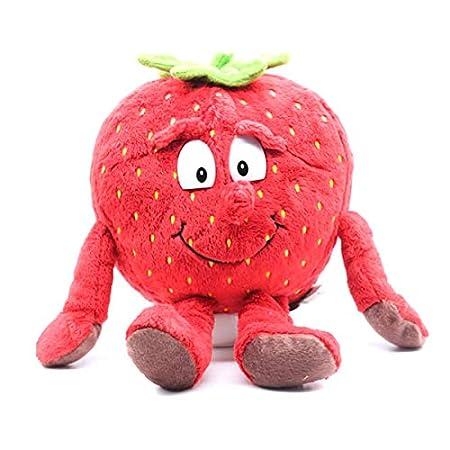 Coomir 1 Unids Frutas Verduras Suave Juguete de Felpa Muñeca de Peluche Niños Niños (Strawberry)